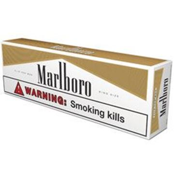 Picture of Marlboro Gold 100 Hard Box Made In Switzerland