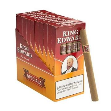 Picture of 50 Cigars King Edward Tip Vanilla (10 Packs Of 5 Cigars)
