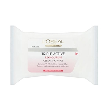 Picture of L'Oreal Dermo-Expertise Re-nourishing Cleansing Wipes (25 units)