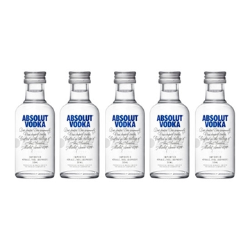 Picture of Absolut 40% Vodka Miniatures (5 cl X 5)