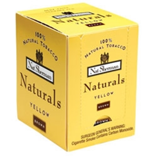 Picture of 100 Cigarettes Nat Sherman Naturals Yellow (Brown) Cigarettes (1X100)