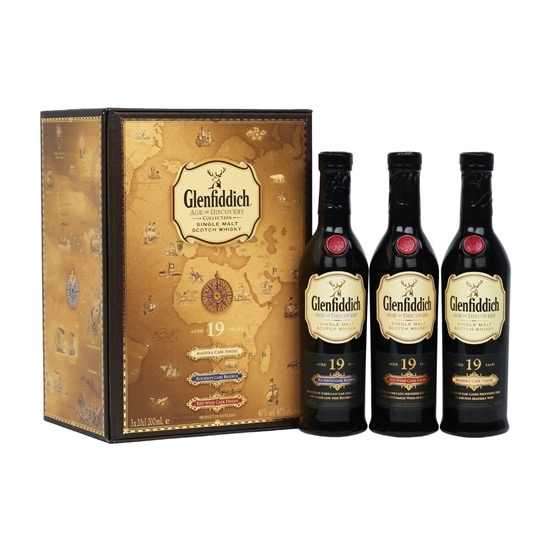 Picture of Age of Discovery Collection Glenfiddich 19 years old (Madeira+Bourbon+Red Cask Finish 200mlx3)
