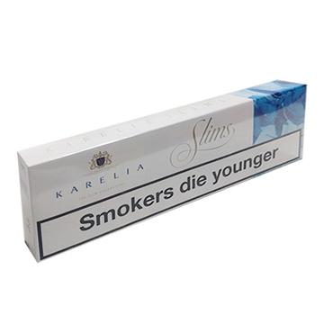 Picture of Karelia Blue Slims cigarettes
