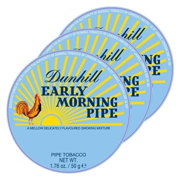 Picture of Dunhill Early Morning Pipe Tobacco (3 X 50 GR)