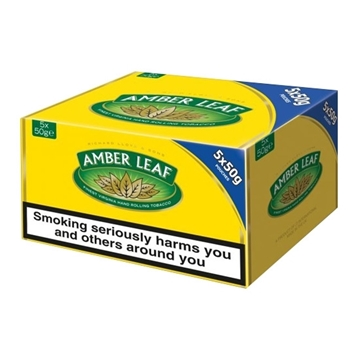 Picture of Amber Leaf Hand Rolling Tobacco (5 packs of 50 gr.)