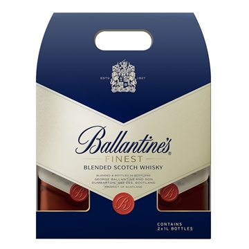 Picture of BALLANTINES FINEST T/PACK 1L x 2 W40%